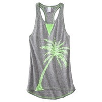 Xhilaration® Junior's Racerback Swim Coverup Dress -Palm Tree Print