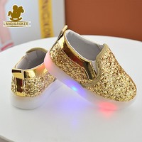 Children Shoes Kids Led Flashing Sequin Sneakers