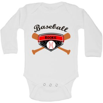 Baseball Rookie of the Year Funny Baby Bodysuit