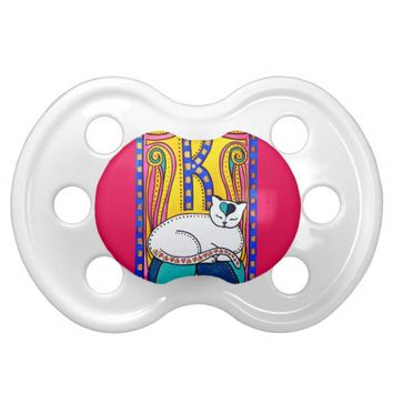 Peace And Love Valentine Cat Design Pacifier