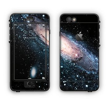 The Swirling Glowing Starry Galaxy Apple iPhone 6 LifeProof Nuud Case Skin Set
