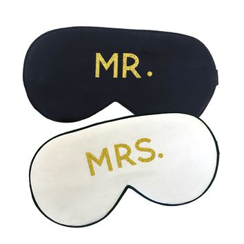 THE  HONEYMOON SILK SLEEP MASK SET