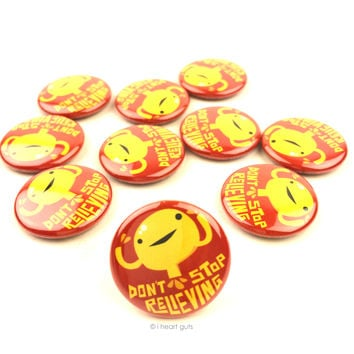 *NEW* - Don't Stop Relievin' Bladder Buttons - Set of 10