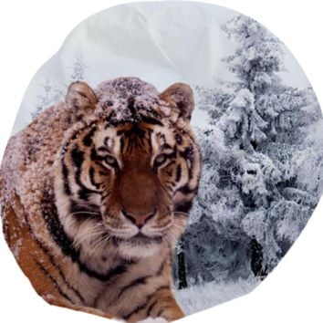 Siberian Tiger Bean Bag created by ErikaKaisersot | Print All Over Me