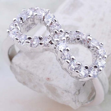 Diamond CZ Infinity Ring