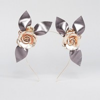 Ribbon & Asher Race Day Metallic Roses Headband at asos.com