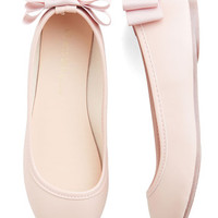 ModCloth Darling Tasteful Touch Flat in Blush
