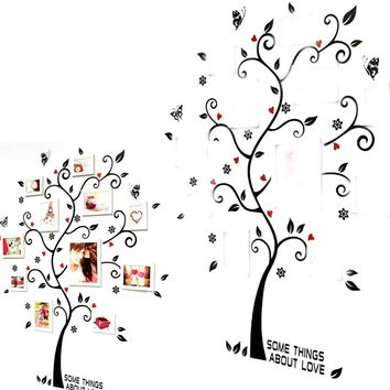 New style Arrival DIY Removable Forever Family Chic Photo Frame Tree Mural Wall Sticker Home Decor Fashion