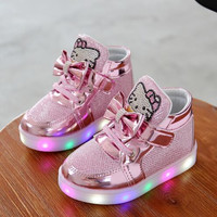 2016 Winter Children Casual Shoes Baby LED Light Sport Shoes Boys Girls Running Shoes Princess Sneakers Luminous With Light Boot