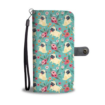 Pug Flower Phone Case