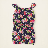 baby girl - dresses & rompers - floral dotted romper | Children's Clothing | Kids Clothes | The Children's Place