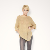 Poncho Top / Asymmetrical Oversized Sweater / Casual Tunic / Casual Top / Long Sleeve Blouse / Casual Shirt / marcellamoda - MB136