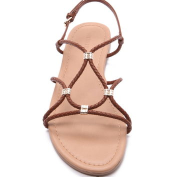 Strappy Faux Leather Sandals | Forever 21 - 2000152676