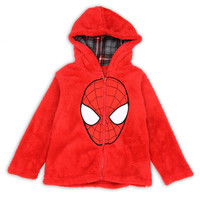 Spiderman's Toddler's Spiderman Mask Plush Hoodie