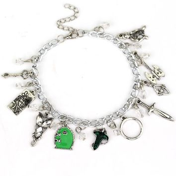 Star Wars Alice in Wonderland Supernatural Suicide Squad Bracelet Doctor Who Legend of Zelda Game Of Thrones Charm Bracelet