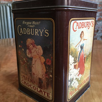 Vintage Cadbury's Caramello Milk Chocolate Commemorative Tin Can