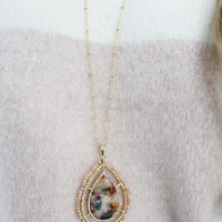 It's Just Right Necklace: Gold/Multi