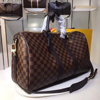 DCCK LV Louis Vuitton MONOGRAM CANVAS KEEPALL 55 SHOULDER BAG TRAVEL BAG