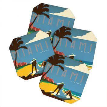 Anderson Design Group Miami Coaster Set