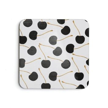Cheries&Gold Design Coaster Set