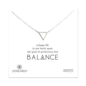 "Dogeared Balance Open Large Triangle 18"" Necklace"