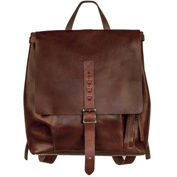 Renaissance Handmade Leather Backpack - Bordeaux