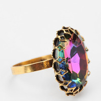 Sunburst Stone Ring