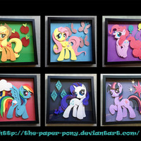 Commission:12 X 12 Mane 6 and Cutie Mark