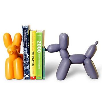 Balloon Animal Bookend   Purple