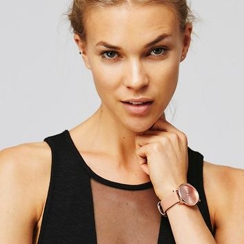 Free People Estelle Leather Band Watch