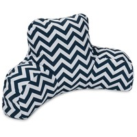 Navy Chevron Reading Pillow