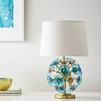 Glass Disc Table Lamp