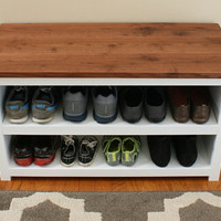Adjustable Shoe Storage Bench