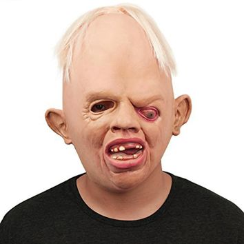Monster Adult Latex Full Head Face Breathable Halloween Mask Fancy Dress Party mask Horror Mask Cosplay toy