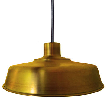 "Barn 17"" Metal Shade Pendant Light- Brass"