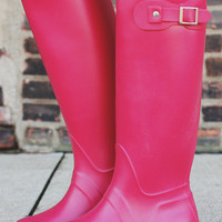 Puddle Jumpin' Boot - Matte Red