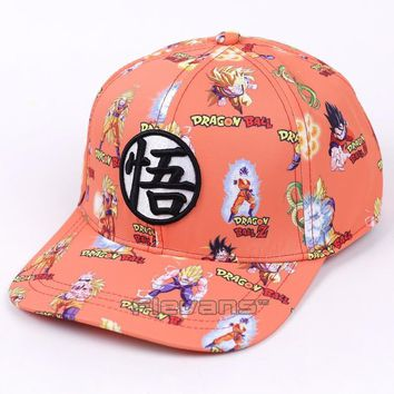 Trendy Winter Jacket Dragon Ball Z Fashion Baseball Caps 2017 New Super Saiyan Son Goku Vegeta Print Mens Snapback Cap Casual Sun Hat AT_92_12
