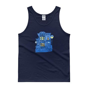 Blue Victorian San Francisco Tank Top by Nathalie Fabri