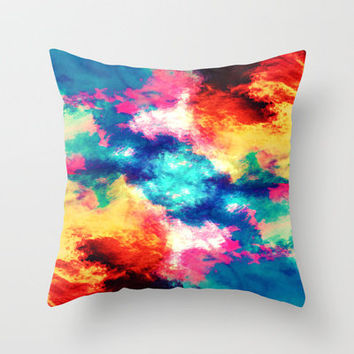 Painted Clouds V.1 MIRRORED Throw Pillow by Caleb Troy | Society6
