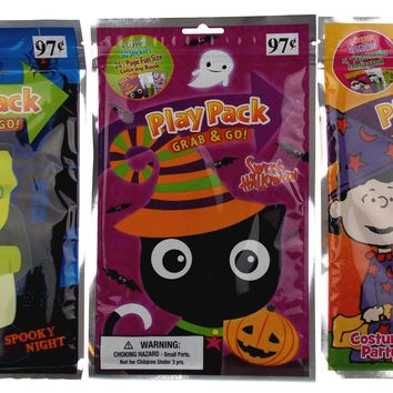 Peanuts & More Play Pack Grab Go Set 9 Coloring Book Crayons Stickers Halloween