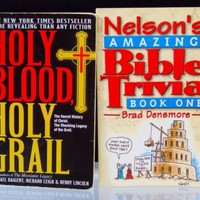 Nelsons Bible Trivia and Holy Blood Holy Grail by M Baigent R Leigh H Li 2 Books