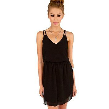 Women Casual Dress Sleeveless Sweet Mini Dresses