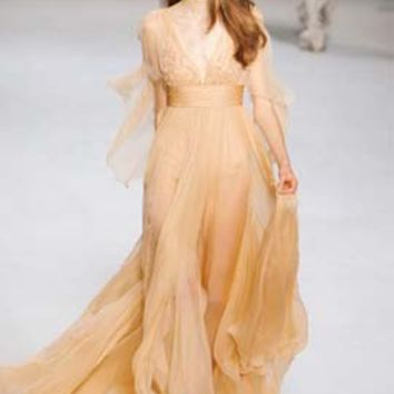 Evening/ Prom Dress Inspired by Elie Saab Ready to Wear Spring 2011 Styles - The Celebrity Dresses