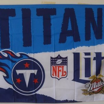 Miller Lite Beer Tennessee Titans Flag 150* 90cm Custom flag