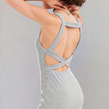 Silence + Noise Ribbed Strappy-Back Bodycon Mini Dress - Urban Outfitters