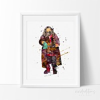 Rubeus Hagrid, Harry Potter Watercolor Art Print