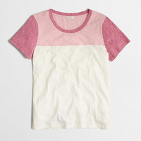 Factory colorblock sketched cotton tee