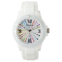 Women's Dots Sporty White Silicon Watch