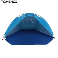 TOMSHOO Outdoor Beach Tents Protable Camping Tent UV Protection Family Shelters Shade Ultralight Tent for Fishing Picnic Park