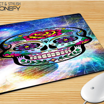 Sugar Skull Colorful Crack Out Mousepad Mouse Pad|iPhonefy